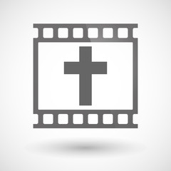 Photographic film icon with a christian cross