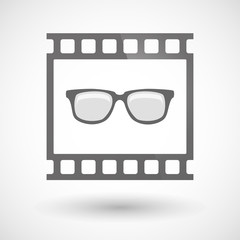Photographic film icon with a glasses