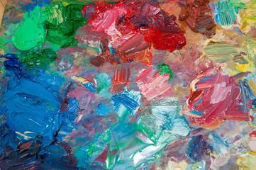 Oil paints palette