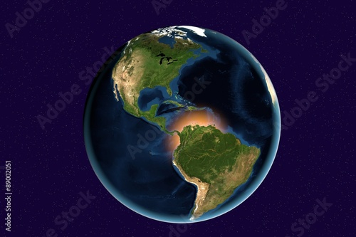 Planet Earth The Earth From Space Showing North And South America - Globe of usa