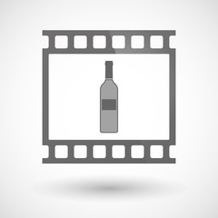 Photographic film icon with a bottle of wine