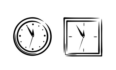 Simple clock sketch set 2in1