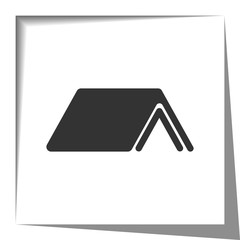 Shelter icon with cut out shadow effect
