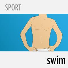Swim sport vector