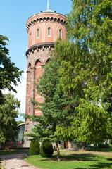 château d'eau dans un jardin public à Colmar - Alsace - France