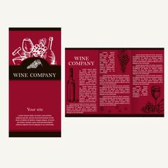 Wine company. Restaurant theme. Corporate identity. Brochures de