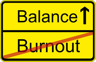 Burnout - Balance (Ortsschild)