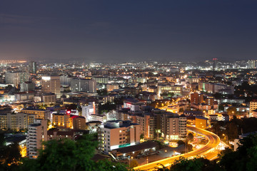 Pattaya beautiful city  travel landmark night scape view in thailand