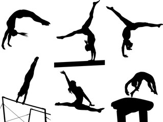Gymastic Silhouettes