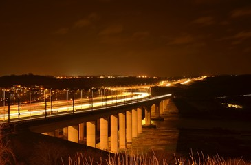 Medway Bridge at Night