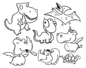 various animal cartoon