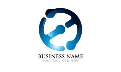 Modern Connecting logo for EM ME E M
