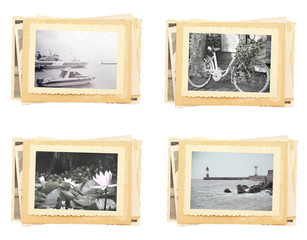 sea holiday romance vintage photo retro style