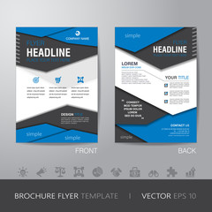 polygon business brochure flyer design layout template in A4 siz