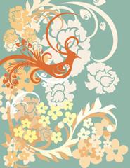 Ancient Chinese Phoenix Background