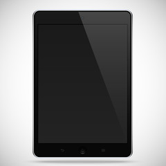 realistic detailed tablet with touch screen isolated