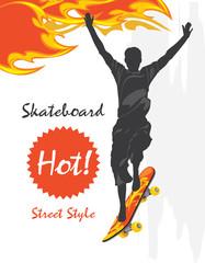 Skateboard. Street style