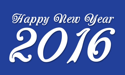 2016 Happy New Year Blue White