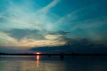 Blaue Stunde im Müritz Nationalpark