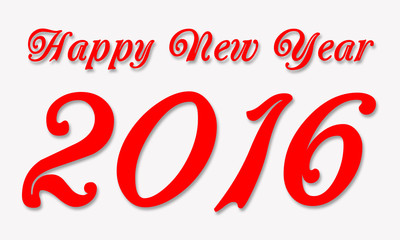 Happy New Year 2016 Isolated White