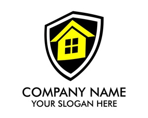 house shield logo vector