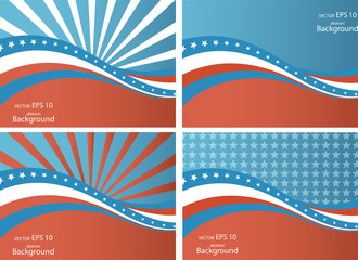 American Flag, Vector background for Independence Day and other