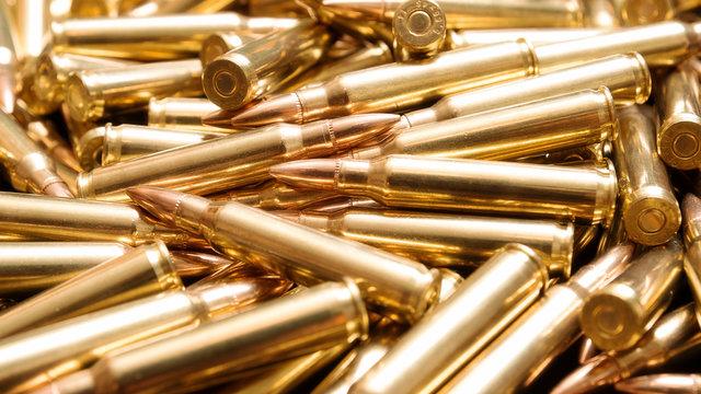 Rifle ammo background