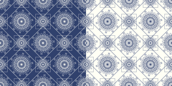 Ornamental seamless pattern with traditional Arabic ornaments.