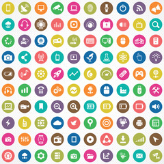 hi-tech 100 icons universal set