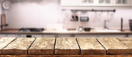 desk space in kitchen room