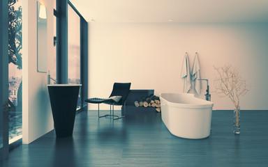 Modern contemporary luxury bathroom interior