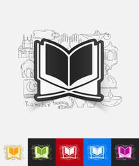 koran paper sticker with hand drawn elements