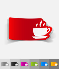 realistic design element. cup of coffee