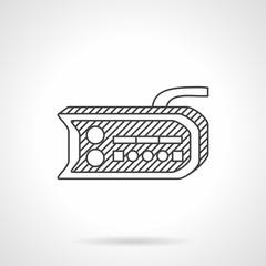 Bike dashboard line vector icon