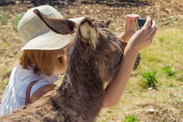 Selfie mit Esel