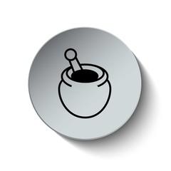Honey icon. Sweet icon. Dessert icon. Button. Vector illustratio