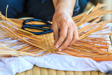 Bamboo weaving by handicraft