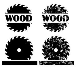 Sawing wood logo