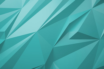 low poly turquoise background