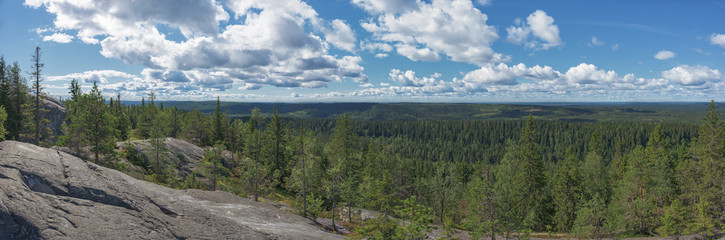 Fototapete - Panoramic view from the top of the Koli national park