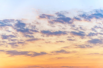 the color of cloud and sky at sunset