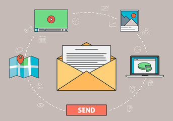 Email Communication - Envelope and Letter