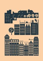 Illustration of buildings.