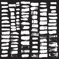 Vector set of grunge brush strokes. Black vector brush strokes.