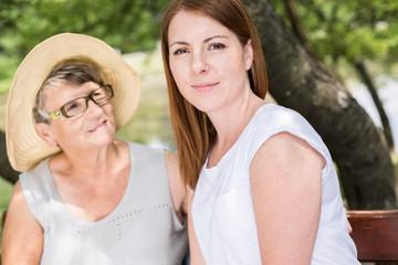 Friendship between grandmother and granddaughter
