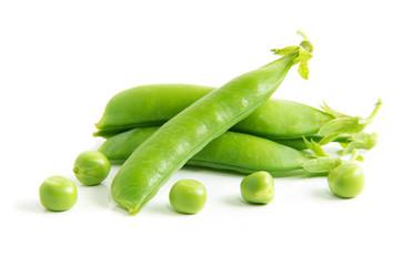 Peas isolated on white