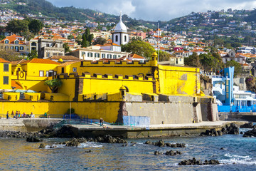 Castle of Sao Tiago in Funchal, Madeira (Portugal) Fototapete