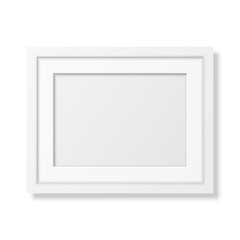 Realistic white frame A4