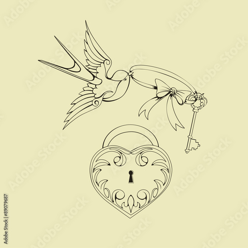 Old School Tattoo Symbols Stock Image And Royalty Free Vector Files