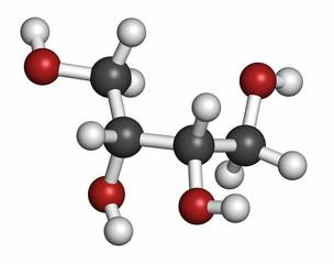 Erythritol non-caloric sweetener molecule.